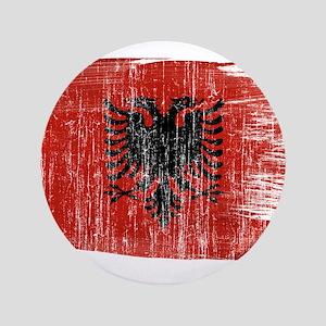 "Albania Flag 3.5"" Button"