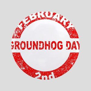 Groundhog Day Stamp Button