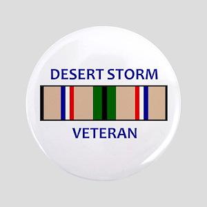 """DESERT STORM VETERAN 3.5"""" Button"""