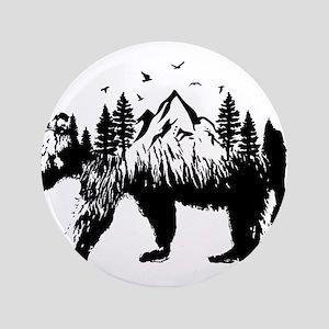"""Bear Woods 3.5"""" Button"""