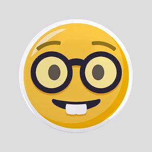 """Nerd-face Emoji 3.5"""" Button"""