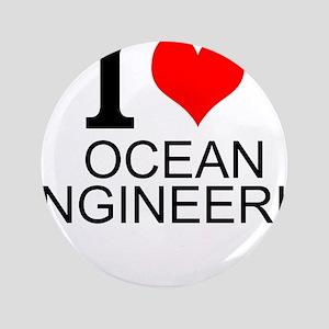 I Love Ocean Engineering Button