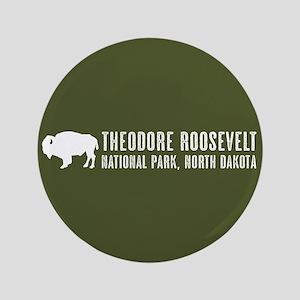"""Bison: Theodore Roosevelt, North Dakot 3.5"""" Button"""
