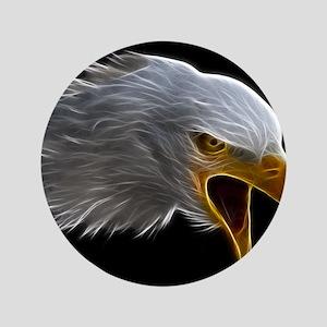 "American Bald Eagle Head 3.5"" Button"