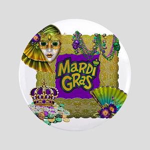 "Mardi Gras 3.5"" Button"