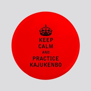 "Keep Calm and Practice Kajukenbo 3.5"" Button"