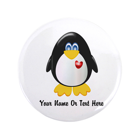 "Customizable Penguin 3.5"" Button"