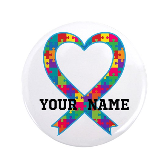 Autism Ribbon Heart Personalized