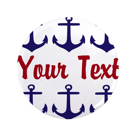 Personalizable Red and Blue Anchors