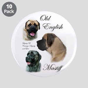 "Old English Mastiff 3.5"" Button (10 pack)"