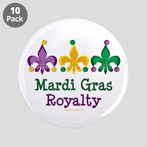 """Mardi Gras Fleur de Lis 3.5"""" Button (10 pack)"""