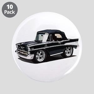 "BabyAmericanMuscleCar_57BelR_Black 3.5"" Button (10"