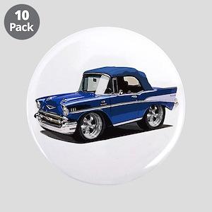 "BabyAmericanMuscleCar_57BelR_Blue 3.5"" Button (10"