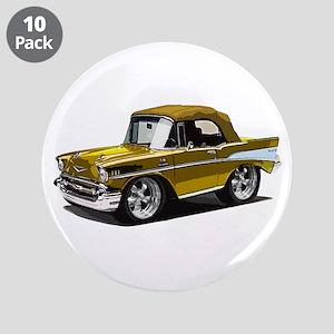 "BabyAmericanMuscleCar_57BelR_Gold 3.5"" Button (10"