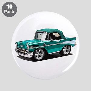 "BabyAmericanMuscleCar_57BelR_Green 3.5"" Button (10"