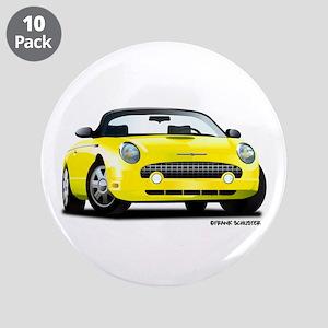"2002 05 Ford Thunderbird yellow 3.5"" Button (10 pa"