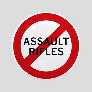 """Ban Assault Rifles 3.5"""" Button (100 pack)"""