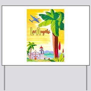 Los Angeles Travel Poster 2 Yard Sign