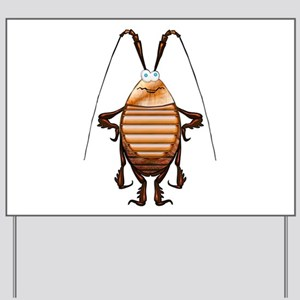 Cockroach 3D Cartoon Yard Sign