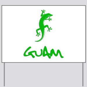 GUAM GECKO GREEN Yard Sign