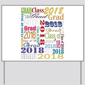 2018 Graduation Typography Yard Sign