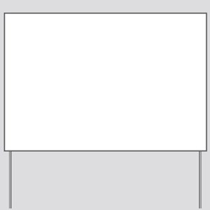 We're on a break! Yard Sign