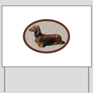 L-H Dachshund Yard Sign