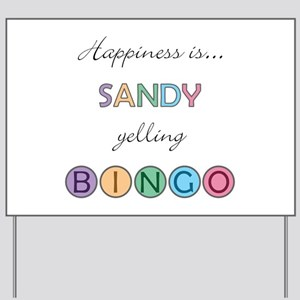 Sandy BINGO Yard Sign