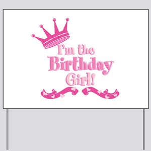 Birthday Girl 2 Yard Sign