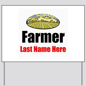 Farmer Yard Sign