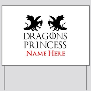 Dragons Princess Personalized Yard Sign