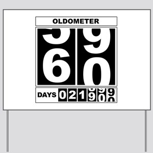 60th Birthday Oldometer Yard Sign