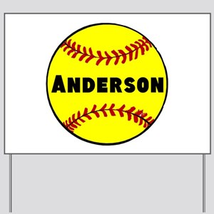 Personalized Softball Yard Sign