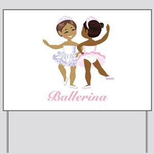 Ballerina Yard Sign