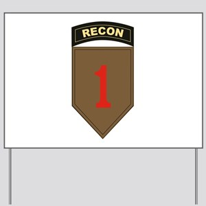 1st ID Recon Yard Sign