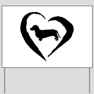 Dachshund Heart Yard Sign