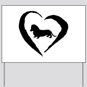 Mini Dachshund Heart Yard Sign