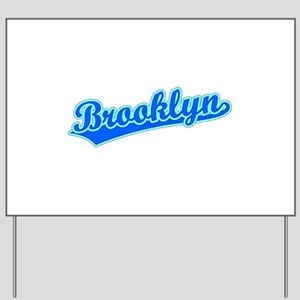 Retro Brooklyn (Blue) Yard Sign
