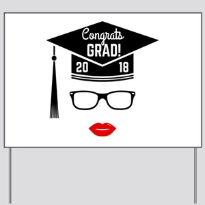 congrats grad 2018 girl Yard Sign