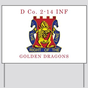 D Co 2-14 INF - Golden Dragon Yard Sign