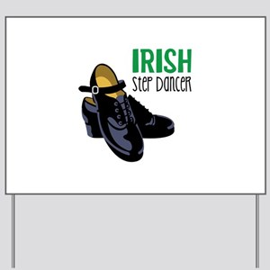 Irish Step Dancer Yard Sign