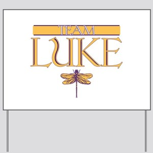 Team Luke Yard Sign