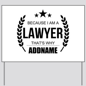 Lawyer Gifts Personalized Yard Sign