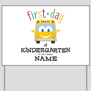 Custom Kindergarten Yard Sign