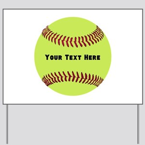 Customize Softball Name Yard Sign