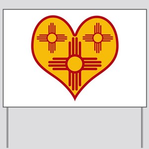 New Mexico Zia Heart Yard Sign