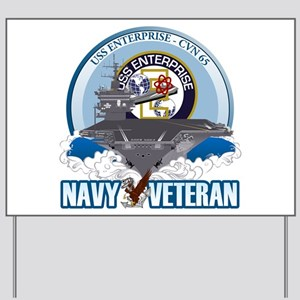 CVN-65 USS Enterprise Yard Sign