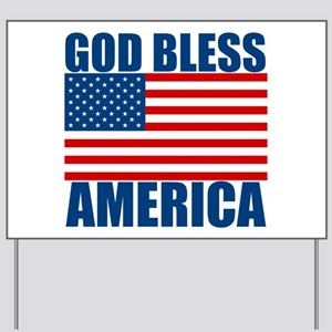 God Bless America Yard Sign