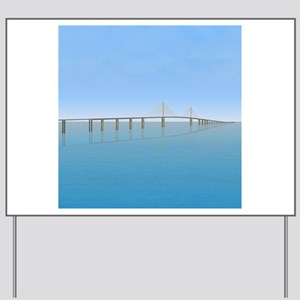 Sunshine Skyway Bridge: Tampa Bay Yard Sign