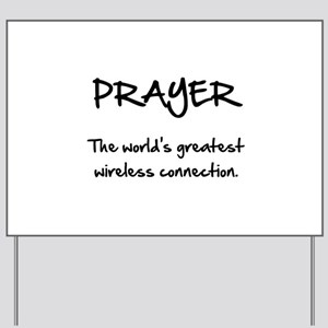 Prayer Wireless Yard Sign